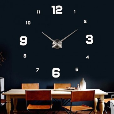 3D Stenska ura z velikimi številkami