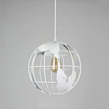 Viseča svetilka v repliki globusa