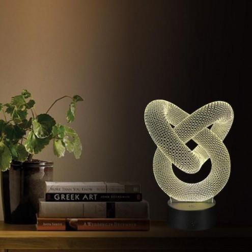3D namizna svetilka z optično iluzijo