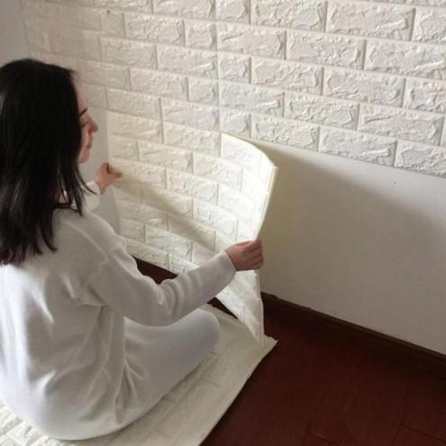 3D samolepljive tapete nalepke v izgledu opeke