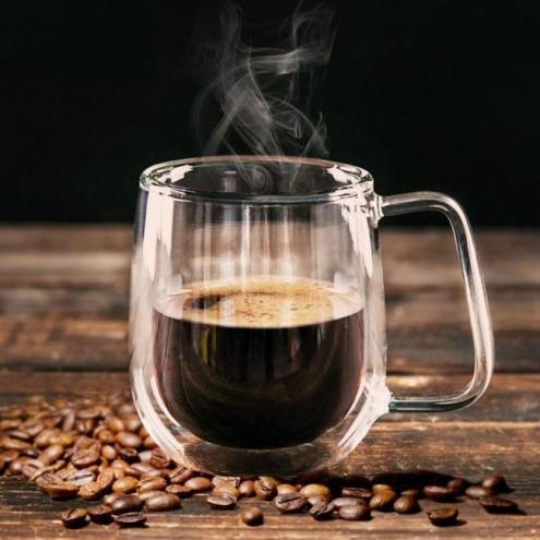 Skodelica za kavo z dvojno zasteklitvijo