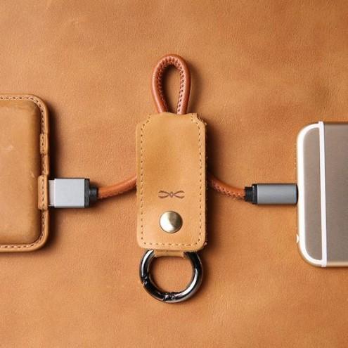 Usnjeni USB Polnilec za telefon