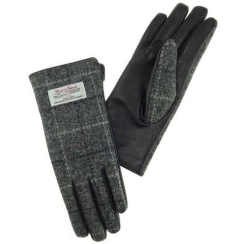 Ženske rokavice v kombinaciji usnja in volne