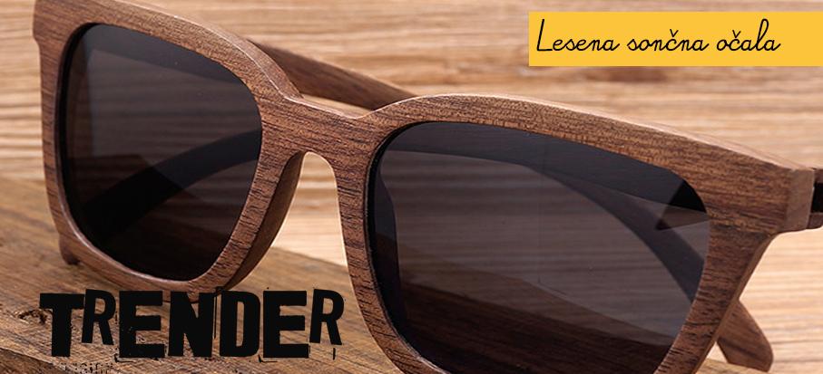 Trender akcija lesenih sončnih očal s polariziranimi stekli. Očala so velik hit poletja 2017. S trendi sončnimi očali z lesenimi okvirji boste zagotovo izstopali v sončnih dneh